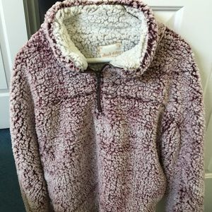 Altar'd State Maroon & Cream Sherpa